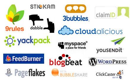 logotipos 2.0 - Forma unida al nombre de la empresa