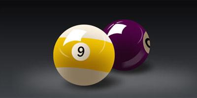 Brillantes bolas de billar
