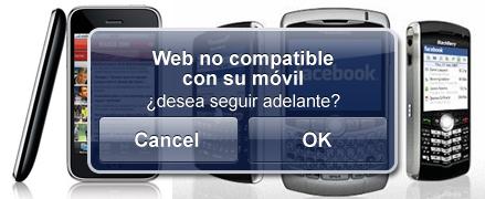 Usabilidad en una web para móvil