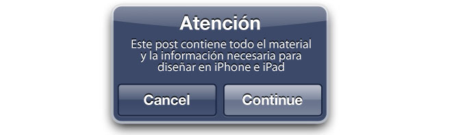 diseño para iPhone, iPad