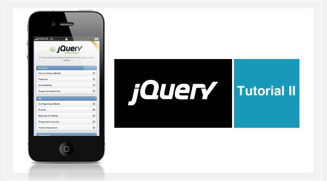 Tutorial de jQuery Mobile II. Transición de páginas