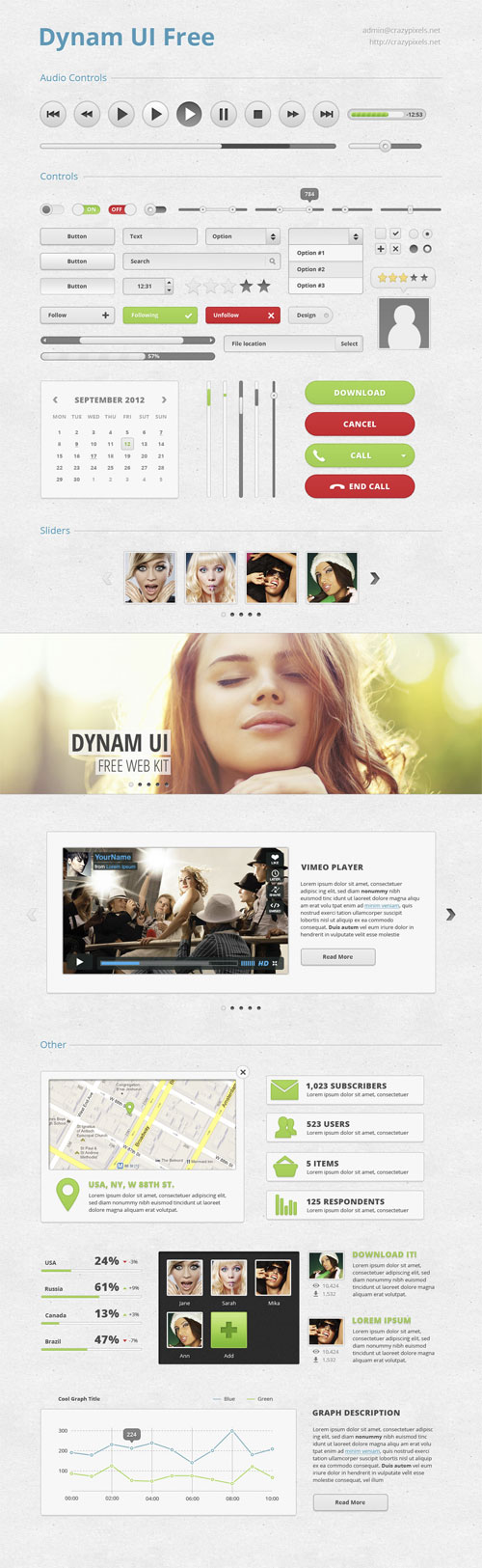 interfaz de usuario PSD