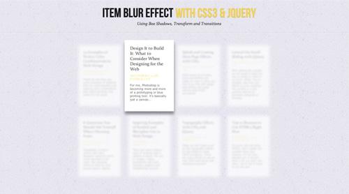 Efecto blur en bloques de texto