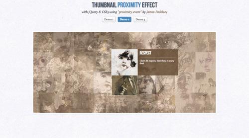 Efectos Thumbnails jQuery CSS3