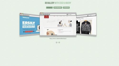 Galería 3D jQuery CSS3