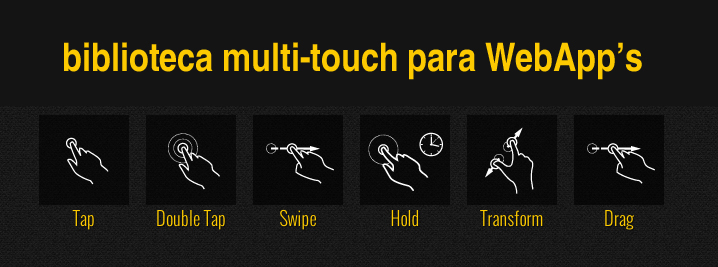 Biblioteca multi-touch para WebApp