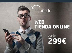 Tu página web o tienda online desde sólo 299€