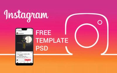 Template PSD GRATIS de Instagram